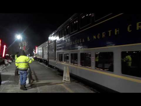 The Polar Express & Amtrak # 68 In Saratoga Springs, NY