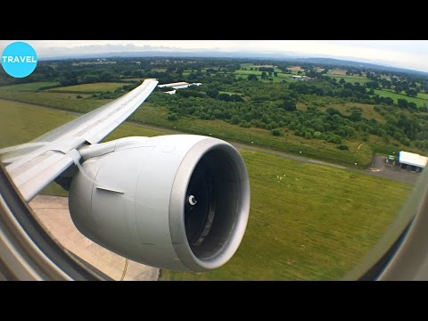 GE90 ENGINE ROAR | Singapore Airlines 777-300ER Takeoff from