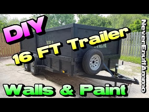 Building Walls & Paint on 16 FT Trailer - Custom How To - DIY
