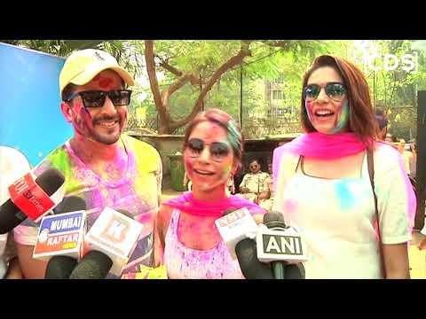 Vinny Arora And Dheeraj Dhoopar At Ekta Kapoor Holi Party 2018