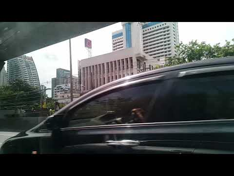 Ride Tour With Grab Car In Bangkok City Thailand