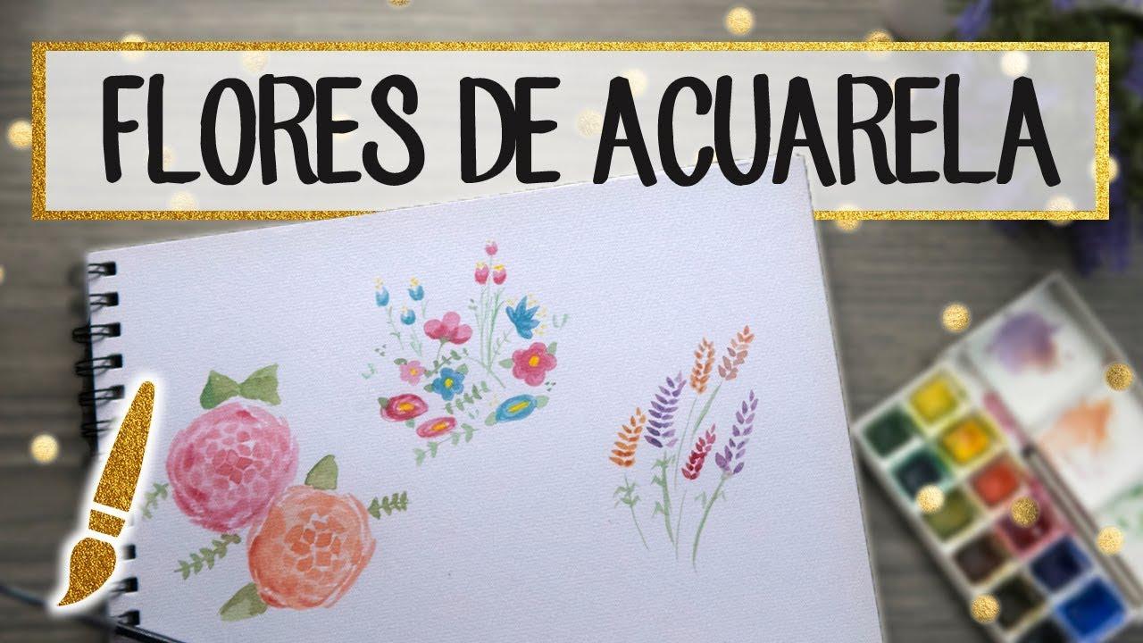 Flores De Acuarela Faciles Paso A Paso A Dibujar 11 Youtube