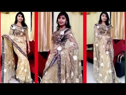3000  की Heavy साड़ी को 500 में कैसे बनाये   Party Wear Designer Saree   How Make Heavy Saree