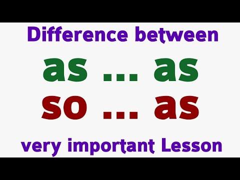 as as vs so as   Use of as as   so as uses  use of  as as & so as in English   अंग्रेजी बोलना सीखे.