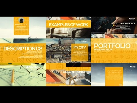after effects template: portfolio presentation - youtube, Presentation templates