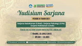 Yudisium Sarjana Periode III, Juli 2021 di Aula Prof. Dr. M. Syaaf - FK Unand