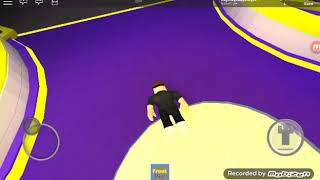 We're having fun trampoline on roblox with my sister