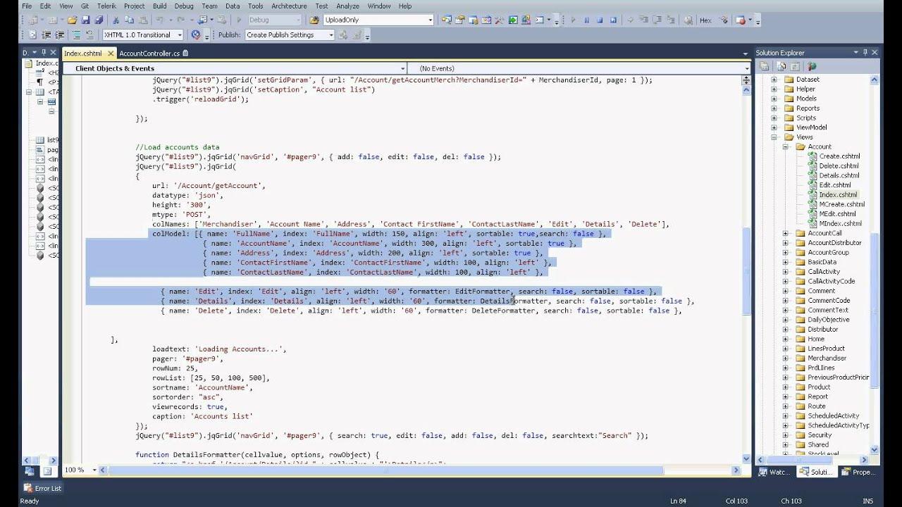 Jqgrid load data part1