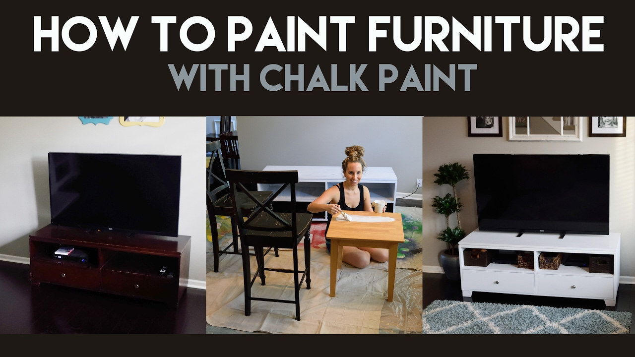 how to paint furniture with chalk paint youtube. Black Bedroom Furniture Sets. Home Design Ideas
