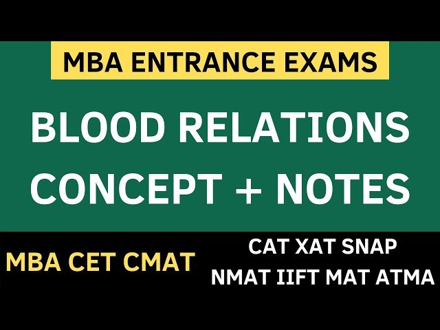 MBA CET 2020 - Blood Relations Reasoning   Concept + Solved Sums + Free PDF