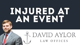 Assaulted at an Event Charleston | Charleston SC Personal Injury Attorney David Aylor
