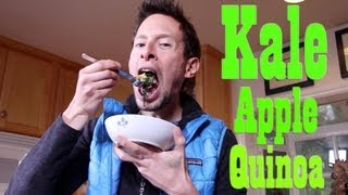 Kale Apple Quinoa Bowl: Organic Vegan Recipe Demo