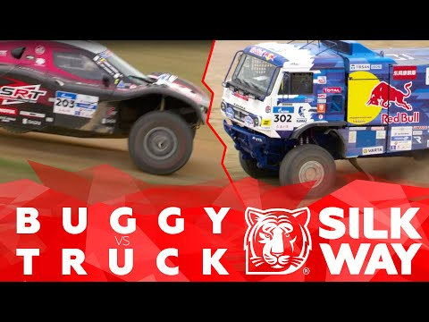 Epic footage of a battle between buggy and truck on the SWR track | Silk Way Rally 🌏