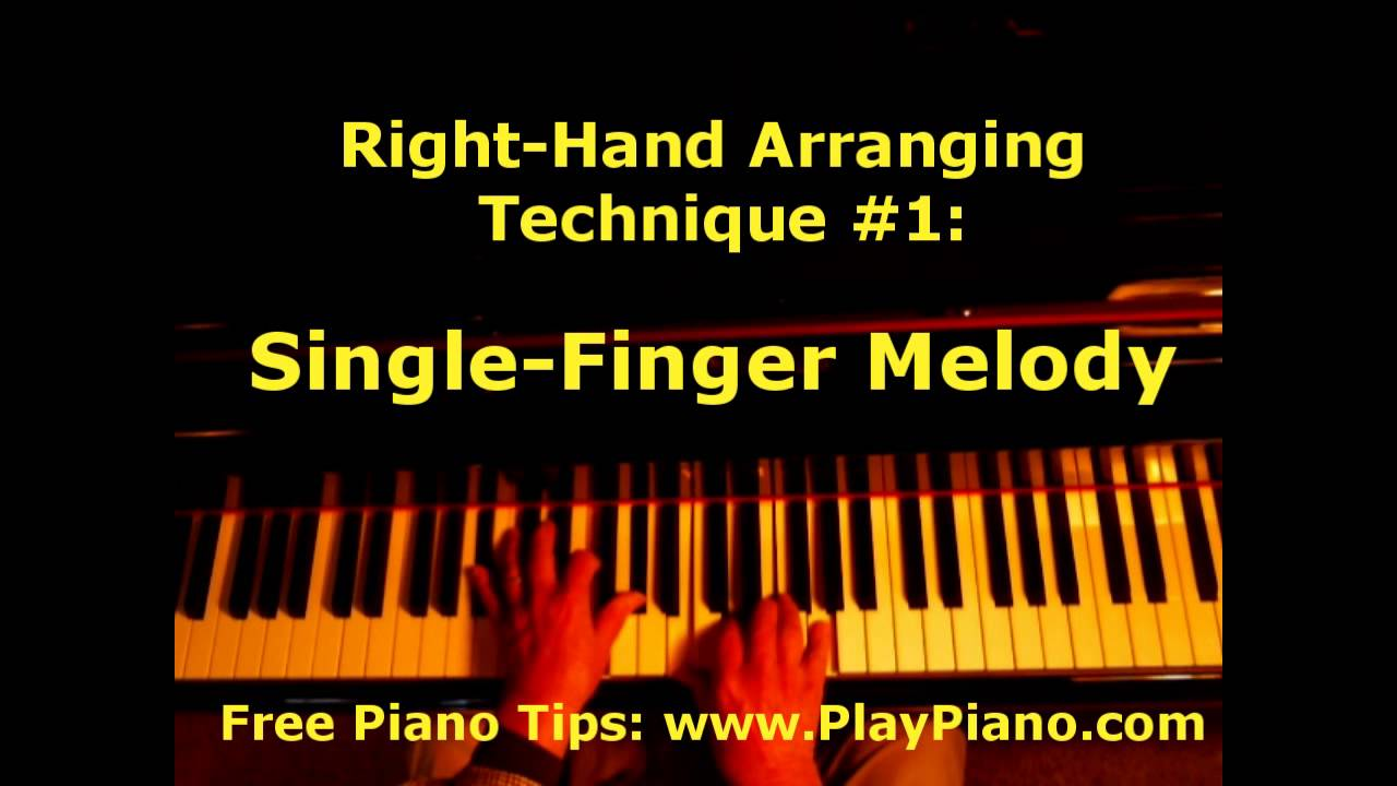 Playing a single finger melody right hand technique 1 youtube hexwebz Images