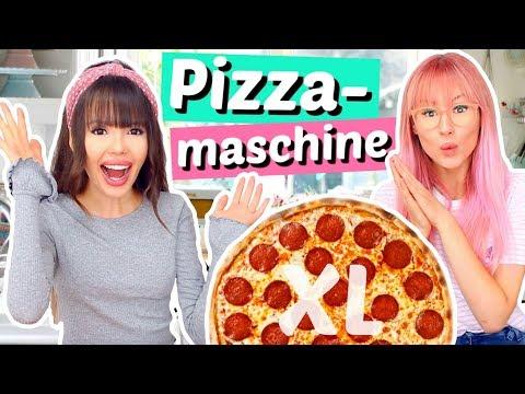 Wir kaufen eine ECHTE PIZZAMASCHINE und backen XL Pizza 🤰🏼| ViktoriaSarina