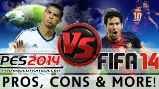 [TTB] FIFA 14 Vs PES 2014 - Gameplay Comparison & More! - Which Game is for You?!