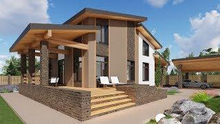 видео Проекты домов из газобетона и проекты коттеджей из газобетона