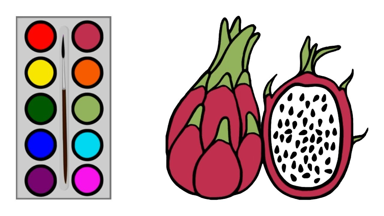 How To Draw Dragon Fruit For Kids