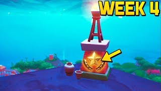 WEEK 4 SECRET BATTLE STAR BANNER LOCATION! (Fortnite Season 8 Week 4 Challenges)