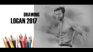 Drawing of Logan | Hugh Jackman in Logan (2017) | ( Speed Drawing Video of Logan 2017)