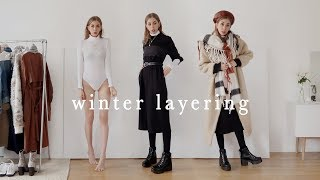 Layering Winter Outfits // Cold Weather - ( using all vegan footwear + outerwear )