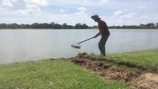 Yard Drain, French Drain, Can Chuck Out DIG His Own Crew? 200 Feet with Gravel