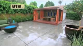 Bamboo Outdoor Shade Diy Network's House Crashers Episode