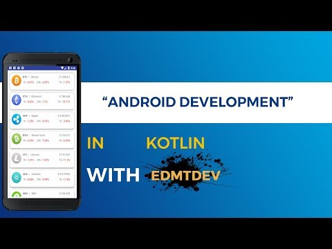 Kotlin Android Tutorial -  Cryptocurrency Tracker