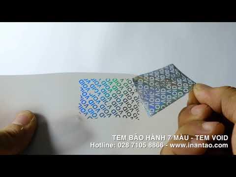 In tem bảo hành 7 màu - tem bảo hành VOID