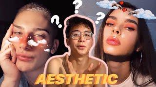 I TRIED COPYING AESTHETIC IG FILTERS , MAKINIS KA GHORL?! | makeup tutorials