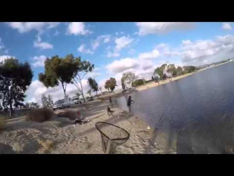 Santa ana river lakes trout fishing 12 19 15 youtube for Santa ana river lakes fishing