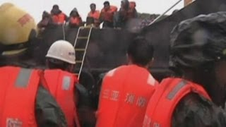 Typhoon Haiyan: 12 rescued after ships stranded in China