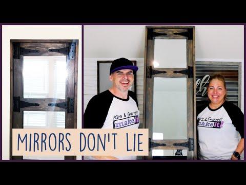 DIY Farmhouse Rustic Wood Frame Mirror