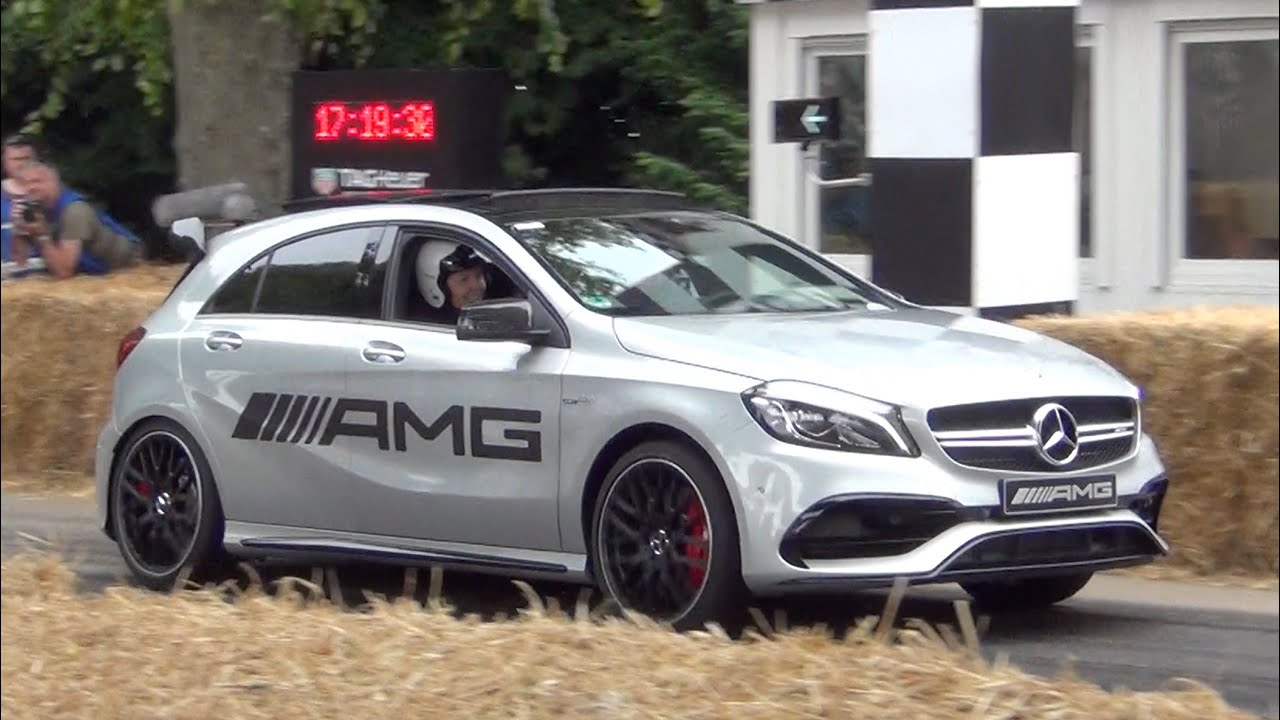 2016 mercedes a45 amg launch control and loud sound youtube for Mercedes benz cars com