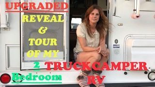 UPGRADED REVEAL & TOUR OF MY 2 ROOM TRUCKCAMPER !
