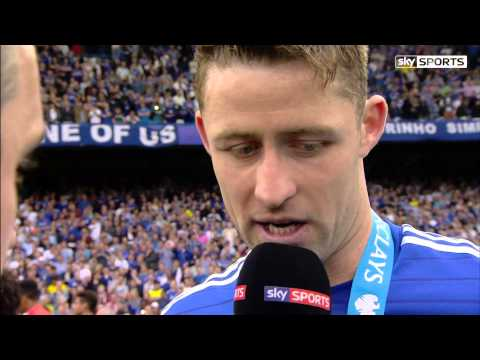 [Che 3-1 Sun] 24/5/2015 Cahill with Gary Neville Interview 14/15 Champion