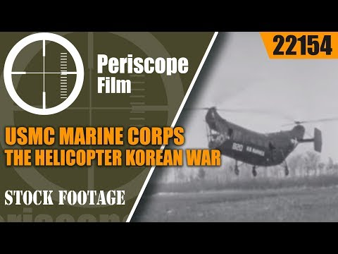 USMC MARINE CORPS AND THE HELICOPTER   KOREAN WAR 1950s FILM  22154