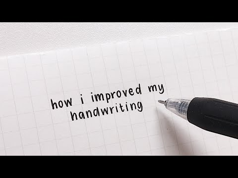 how i improved my handwriting