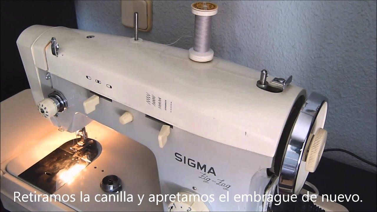 Máquina de coser. 2. Hacer canilla. - YouTube