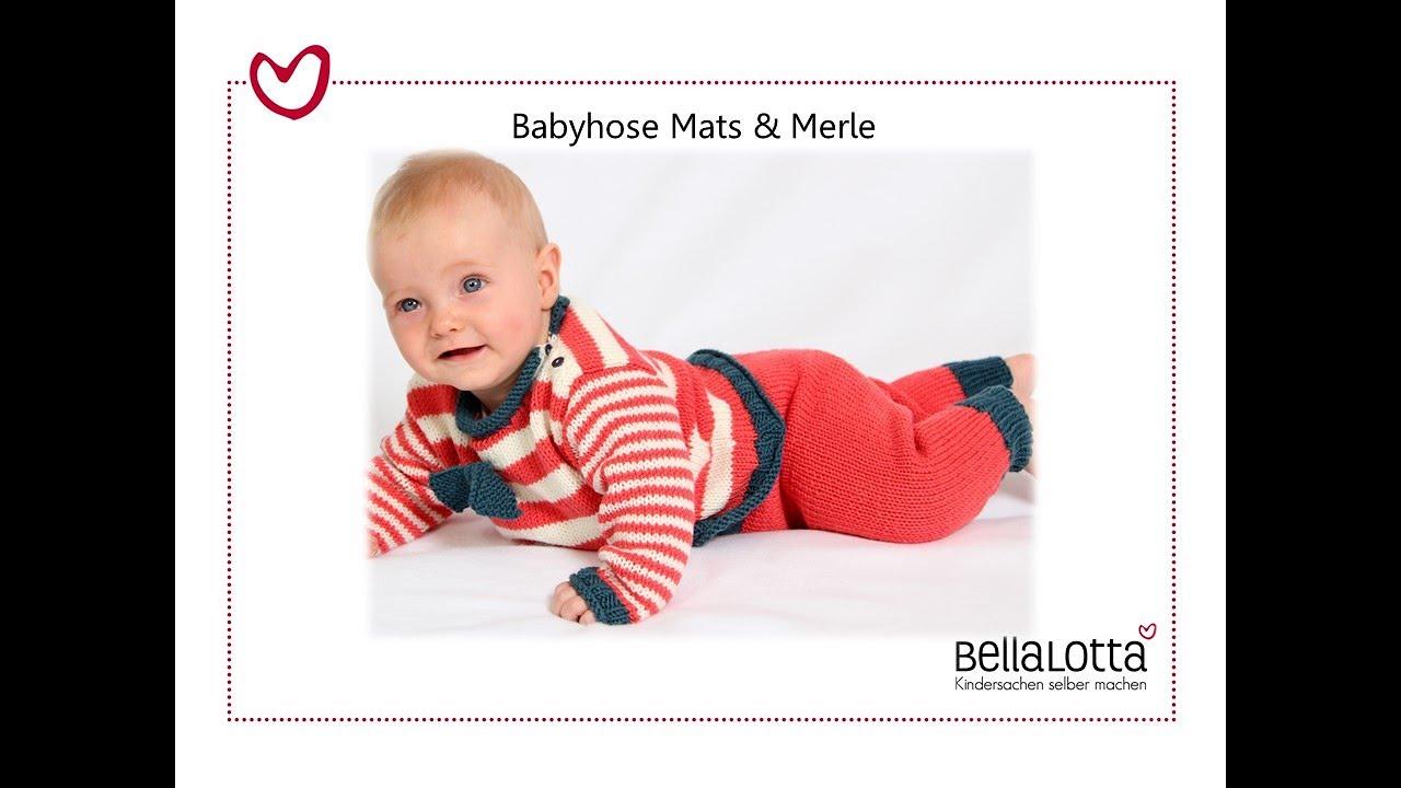 Babyhose einfach stricken - mit BellaLotta - YouTube