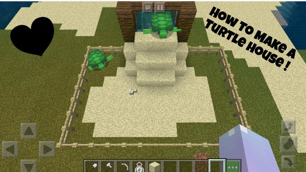 Minecraft How To Make A Turtle House Youtube