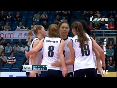 [HD]Kazakhstan Vs South Korea l 2015 Asian Women's Volleyball Championship l Pool D