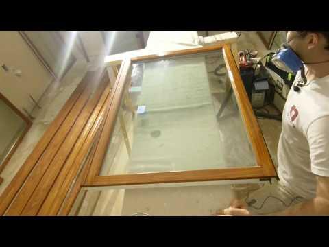 Brushing Polyurethane on Wooden Windows