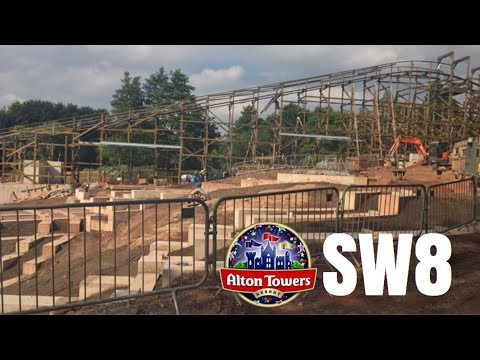 Alton Towers SW8 Construction Update - 25th July 2017