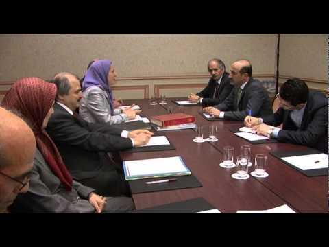 Rencontre de Maryam Radjavi et Ahmed Al-Jarba à Paris