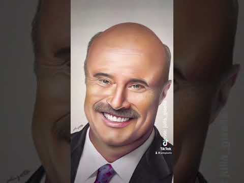 Dr. Phil asked me if I can draw him for 50 days so I finally gave in 👀lol😄 | JULIA GISELLA #shorts