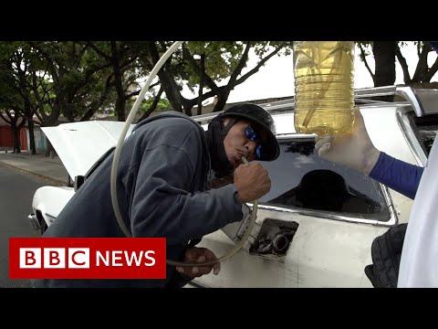 Running on empty: Venezuela fuel crisis hits Covid victims - BBC News