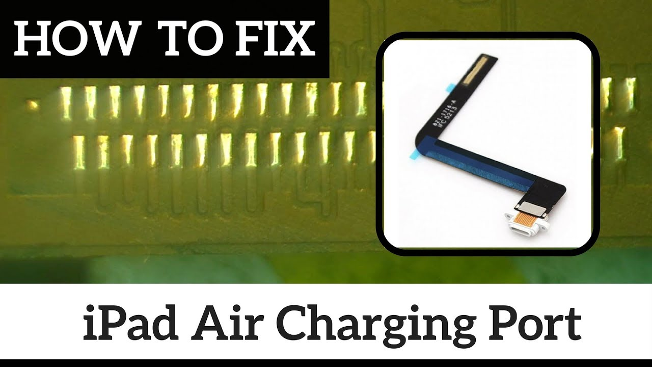 how to guide how to fix ipad air 1gen charging port diy repair [ 1280 x 720 Pixel ]
