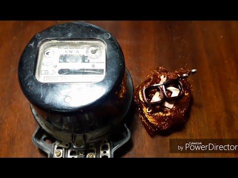 Медь в счетчике. Советский электросчетчик в металлолом.
