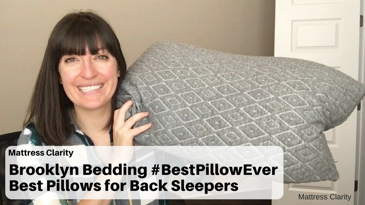 brooklyn bedding best pillows for back sleepers